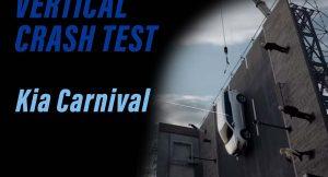 Kia Carnival vertical crash