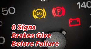 6 signs Brake problems