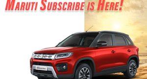 Maruti Suzuki Subscribe