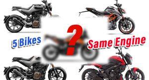 5 bikes same engine - KTM 250