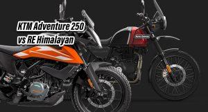 KTM 250 adventure vs Himalayan
