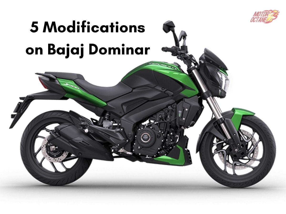 Bajaj Dominar modified