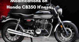 Honda CB 350 H'ness modifications