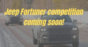 Jeep Fortuner competition coming soon!