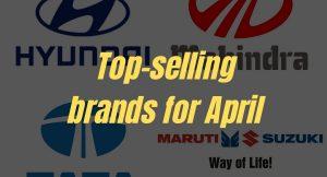 10 top-selling brands in April