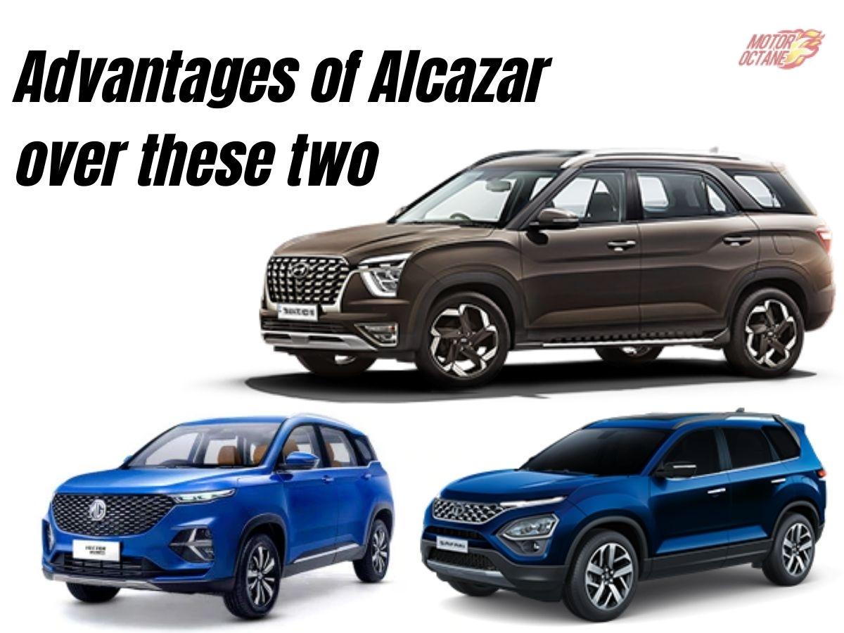 Hyundai Alcazar advantages over Hector, Safari