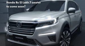 Honda Rs 12 Lakh 7-seater