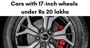 17-inch wheels