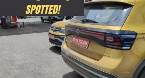 Volkswagen Taigun spotted testing