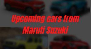 upcoming Maruti cars in India