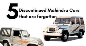 discontinued Mahindra cars