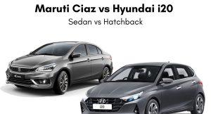 Maruti Ciaz vs Hyundai i20