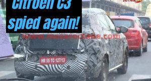 Citroen C3 spied again