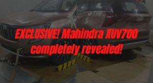 Mahindra XUV700 spy shots