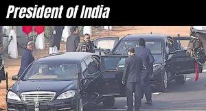 President Kovind car